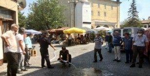 Safranbolu'da vatandaş ve esnaflara yangın eğitimi