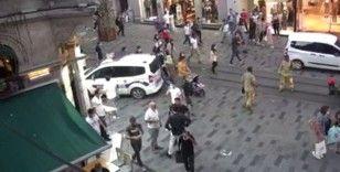 İstiklal Caddesi'nde restoran bacasındaki yangın paniğe neden oldu