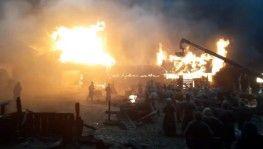 Rusya'da film stüdyosunda çekimler sırasında yangın çıktı