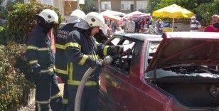 Faciadan dönüldü: LPG tanklı otomobilde yangın çıktı
