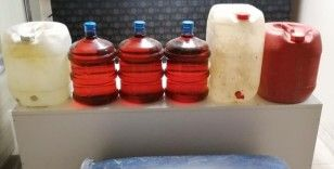 116 litre sahte alkol ele geçirildi
