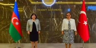 Ticaret Bakanı Pekcan, Azerbaycan Meclis Başkanı Gafarova ile görüştü