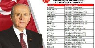Balıkesir'de MHP'nin kongre takvimi belli oldu