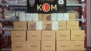 Adana'da bin 340 litre kaçak etil alkol ele geçirildi