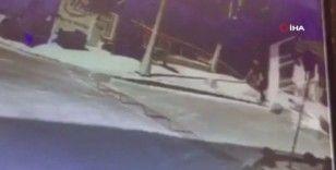 İstanbul'da dehşet anları kamerada: İşçi 3. kattan düştü