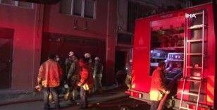Eyüpsultan'da plastik düğme fabrikasında korkutan yangın