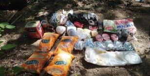 Amanoslar'da terör örgütüne ait yaşam malzemesi ele geçirildi