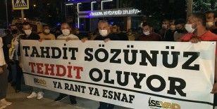 Servis minibüsçülerinden İmamoğlu'na protesto