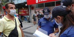 Maske takmayan vatandaştan polise tepki: 'Senin ismini öğreneceğim ben'