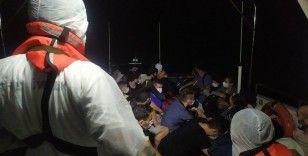 Alanya açıklarında 120 kaçak göçmen yakalandı