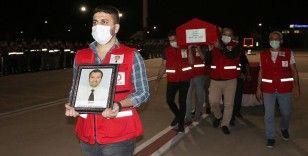 Suriye'de şehit olan Türk Kızılay personelinin cenazesi memleketine uğurlandı