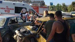 Ters şeride giren alkollü sürücünün dehşet saçtığı anlar güvenlik kamerasında