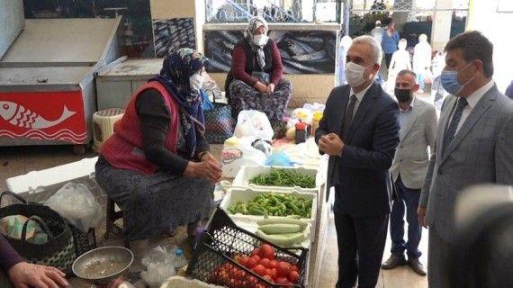 Vali Avni Çakır'dan, pazar denetimi sonrası basın açıklaması