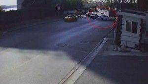 İstanbul'da hatalı dönüş kazası kamerada