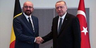 Cumhurbaşkanı Erdoğan ile AB Konseyi Başkanı Michel görüştü