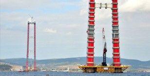 '1915 Çanakkale Köprüsü'nün geçici çalışma halatı montajı tamamlandı
