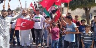 İdlib'te sivillerden rejim karşıtı protesto