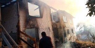 Bilecik'teki yangında ev kullanılmaz hale geldi