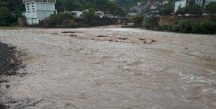 Borçka'da yamaçtan gelen sular heyelana neden oldu