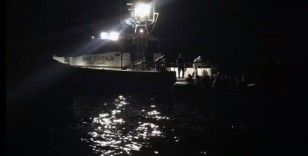 Batan tekneden çığlıklar yükseldi