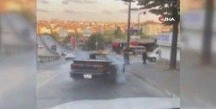 Yol ortasında drift yapan trafik magandası, polis ekiplerince yakalandı