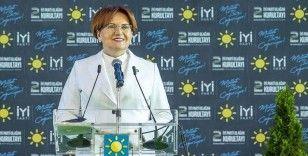 İYİ Parti Genel Başkanı Akşener: 21'inci yüzyıl Türkiye'sine yakışır bir sistemle milletimizi buluşturacağız