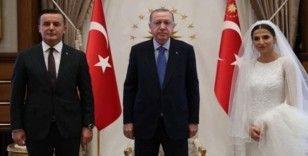 Ankara Başsavcısı Yüksel Kocaman nikahtan sonra Cumhurbaşkanı Erdoğan'ı ziyaret etti