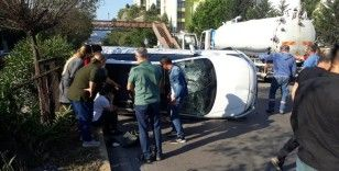 Sahil yolunda kaza: 1 yaralı