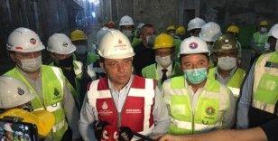 Ekrem İmamoğlu Dudullu-Bostancı metro hattında incelemelerde bulundu