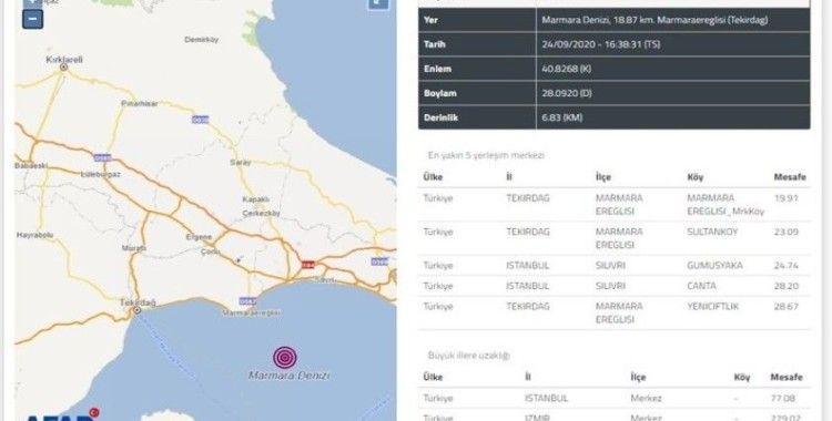 """Tekirdağ Valiliğinden deprem açıklaması: """"Olumsuz durum yok"""""""