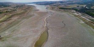 Sazlıdere Barajı'nda korkutan görüntü