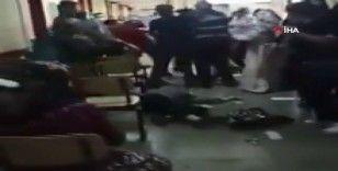Hasta yakınından güvenlik görevlisine 'Maske' saldırısı