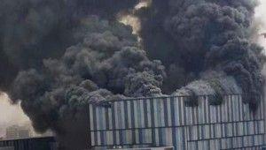 Çinli teknoloji şirketi Huawei'nin laboratuvarında korkutan yangın