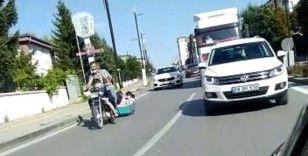 Sivas'ta korkutan yolculuk böyle görüntülendi