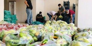 Mardin'de ihtiyaç sahiplerine ücretsiz sebze ve meyve