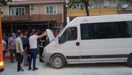 Tekirdağ'da minibüste yangın