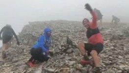 Uludağ'da fırtınaya yakalanan atletlerin zor anları