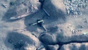Azerbaycan Ermeni ordusuna bağlı topçuları vurdu