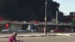 İran'da pazar yerinde korkutan yangın