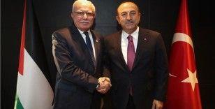 Dışişleri Bakanı Çavuşoğlu Filistinli mevkidaşı Malki ile görüştü