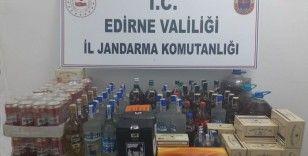 Edirne'de kaçak alkol ve sigara operasyonu