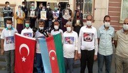 Evlat nöbetindeki ailelerden Azerbaycan'a destek