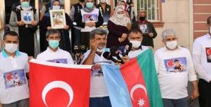 Evlat nöbetindeki ailelerden Azerbaycan'a destek mesajı