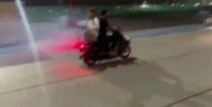 İstanbul'da havai fişekli motosikletli magandalar kamerada