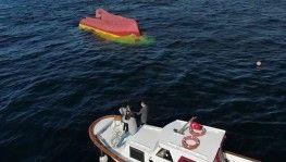 Batan balıkçı teknesi drone kamerasında