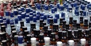 Hırsızların girdiği depoda 6 ton sahte içki ele geçirildi