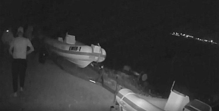 Milli sörfçü Çağla Kubat'ın tekne motorunun çalınması güvenlik kamerasında
