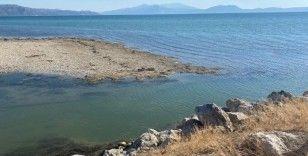 Eğirdir Gölü'nün su seviyesi son 3 yılda 1 metre 55 santim azaldı