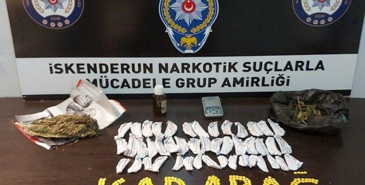 İskenderun'da uyuşturucu ve asayiş operasyonu