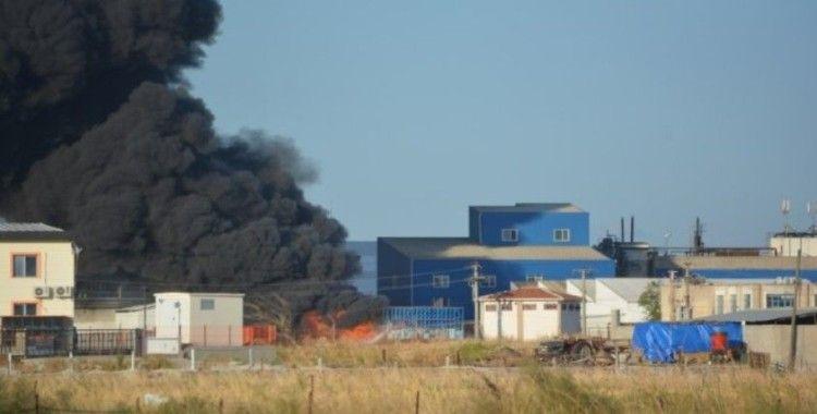 Yağ fabrikasındaki yangın kontrol altına alındı